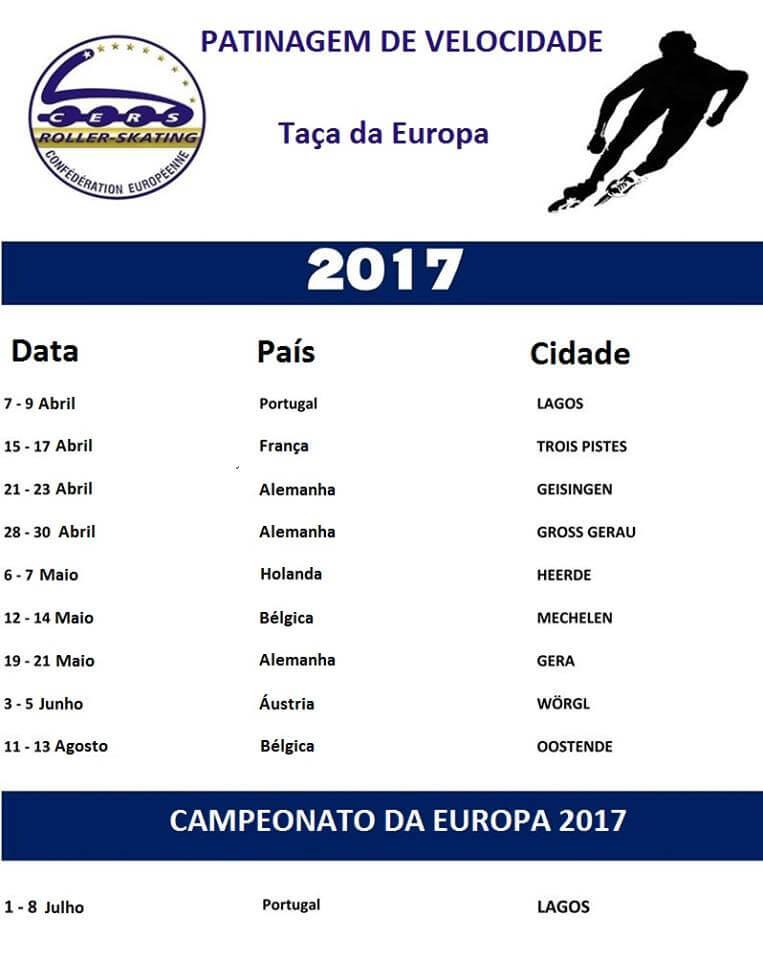 euro Lagos recebe 1ª Etapa da EURO CUP 2017 Ta  a Europa Patinagem Vel