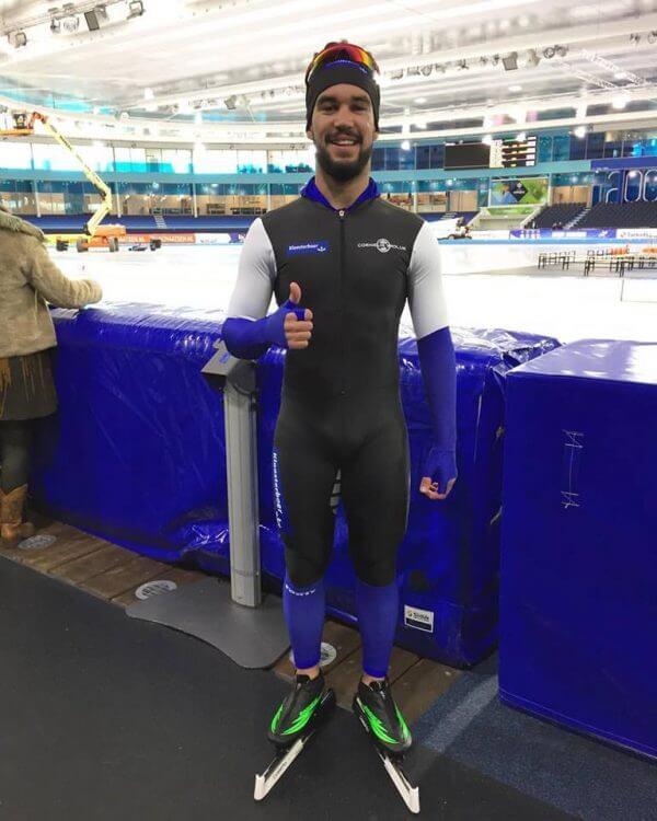 Diogo Marreiros Diogo Marreiros na Patinagem de Velocidade no Gelo Diogo ap  s 1   prova no gelo e1484741658218