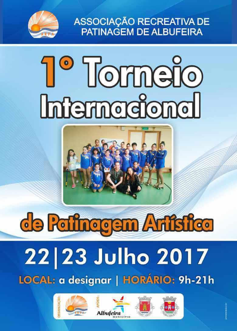 albufeira 1º Torneio Internacional de Patinagem Artística – Albufeira cartaz torneio