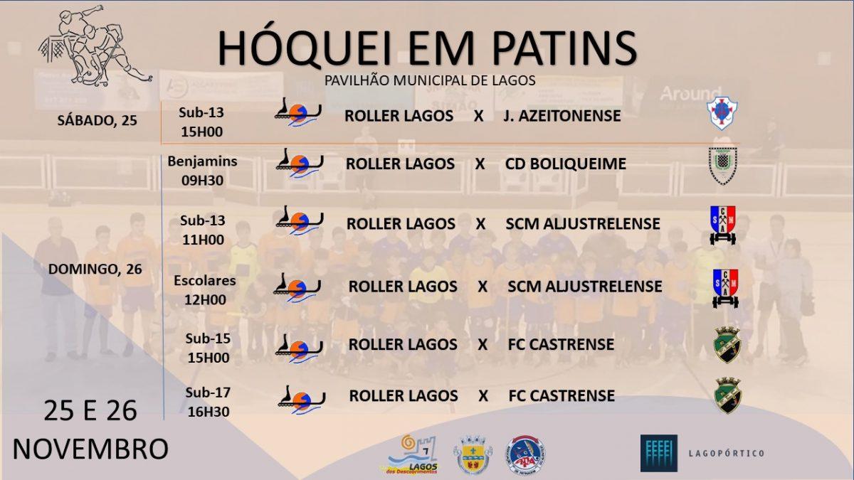Roller Lagos joga em casa com todos os escalões Cartaz jogo TODOS 25 E 26 NOVEMBRO 1200x675