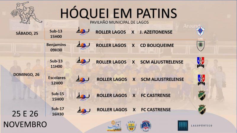 Roller Lagos joga em casa com todos os escalões Cartaz jogo TODOS 25 E 26 NOVEMBRO 800x450
