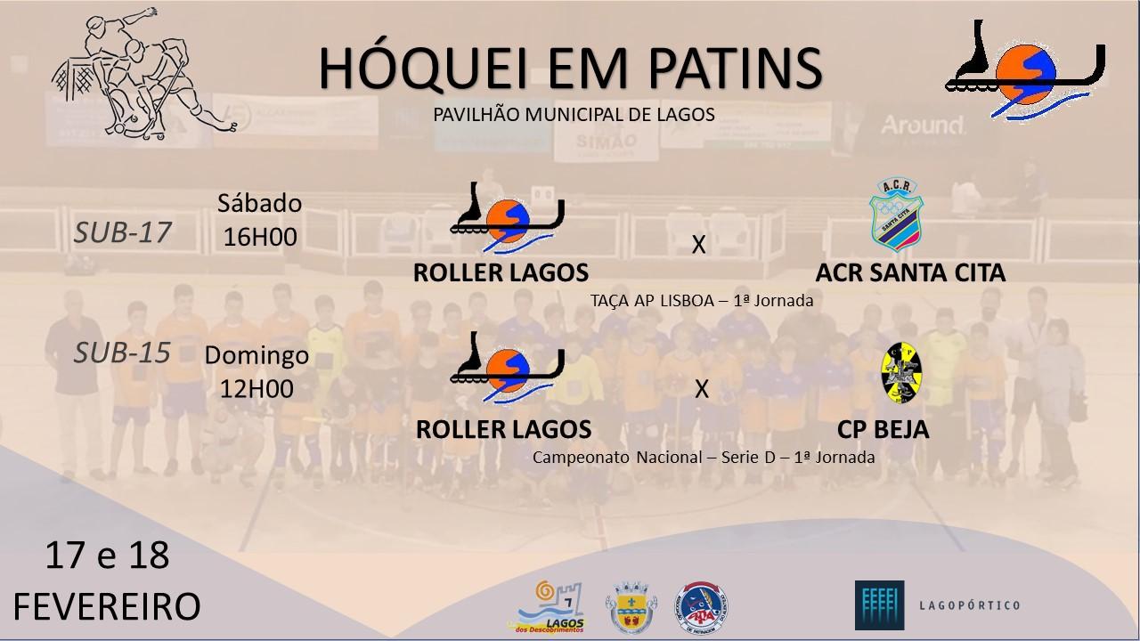 Roller Lagos inicia novas competições Cartaz jogo sub 15 17 17 02 2018