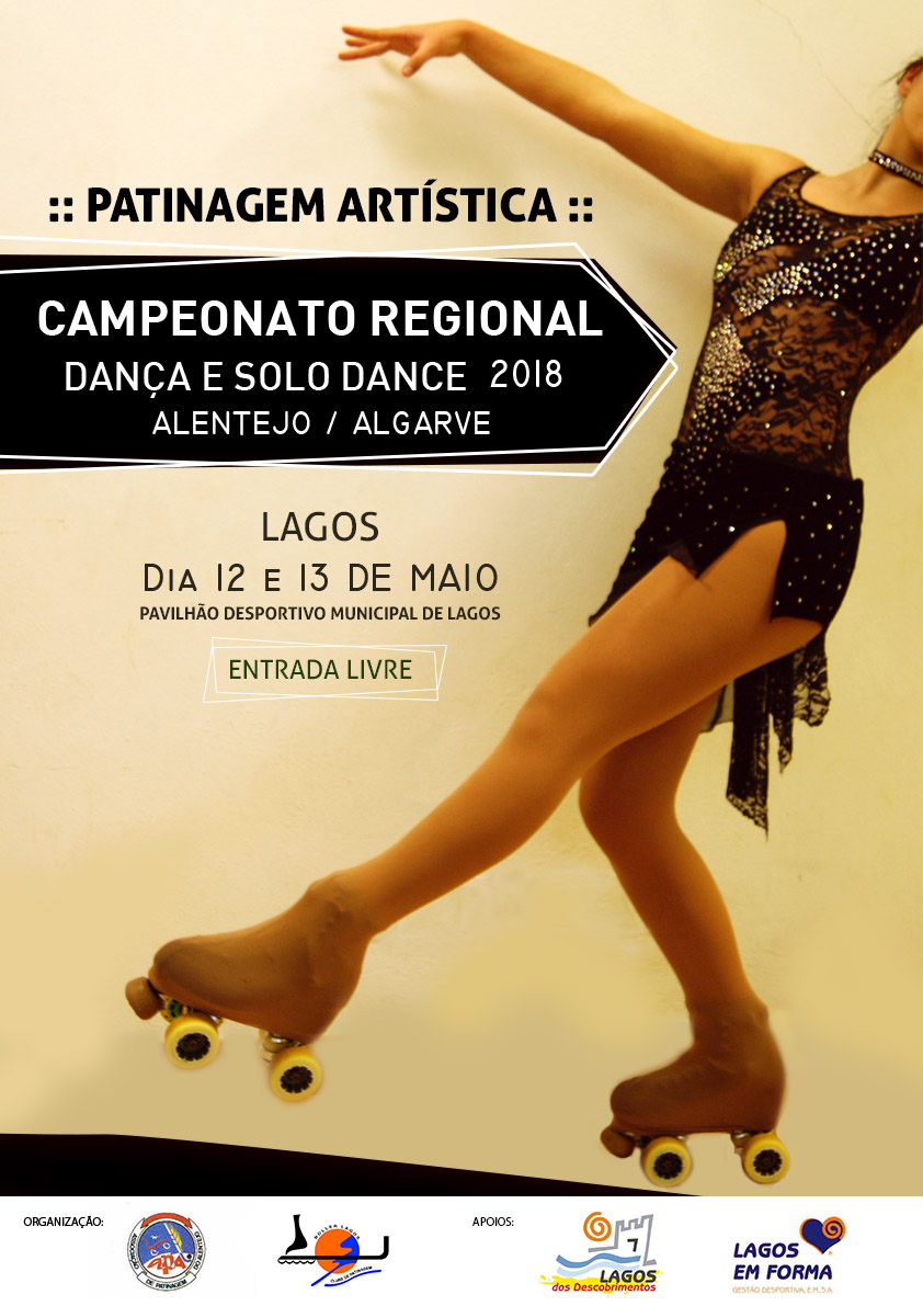Campeonato Regional Dança e Solo-Dance 2018 Alentejo/Algarve cartaz solodance