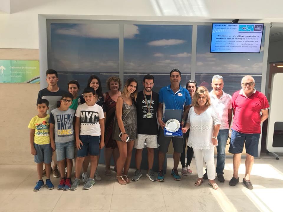 CML Homenageou Vice Campeão Mundial Homeag Diogo