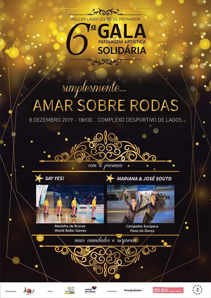 VI Gala Solidária de Patinagem Artística cartaz gala